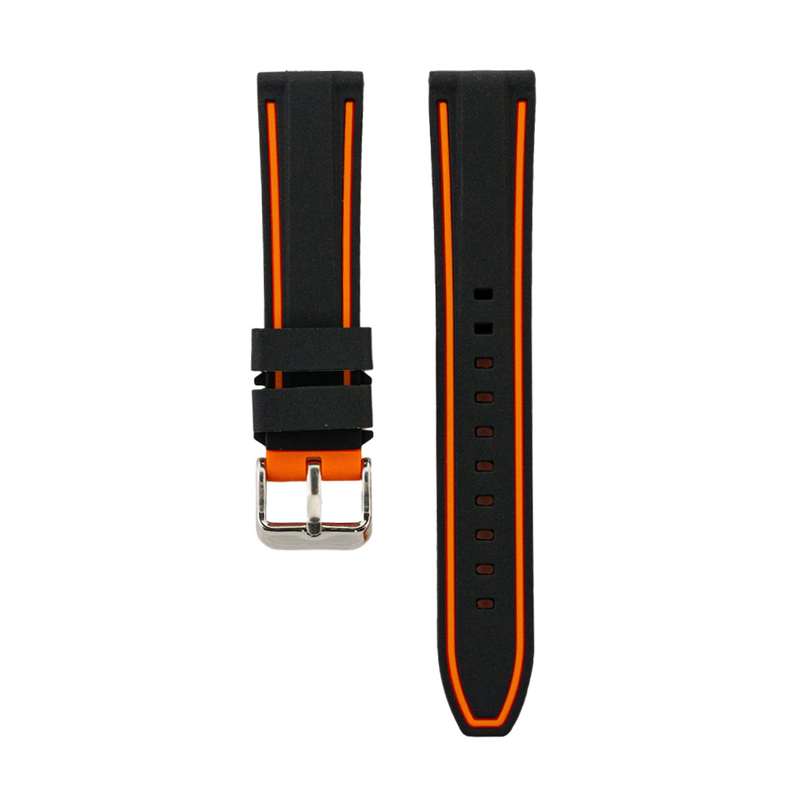 Dual Compression Silicone - Black Strap - Orange Colored Lining