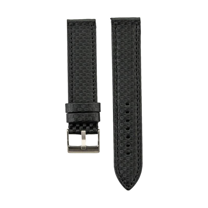 Black Carbon Fiber Style Strap