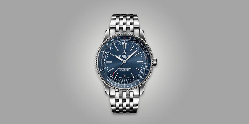 Breiting Navitimer Blue dial on bracelet