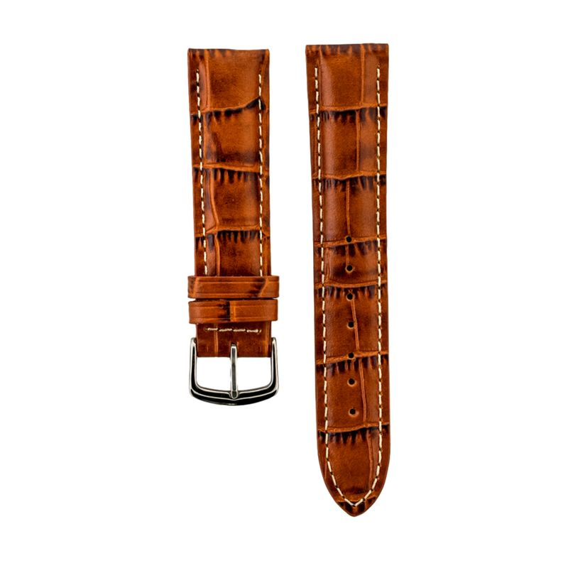 Tan Alligator Grain - Genuine Italian Calfskin