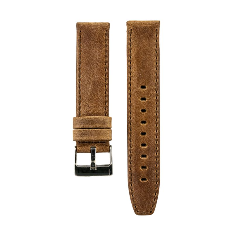 Tan Distressed Crazy Horse Leather with Horween Leather Lining Strap