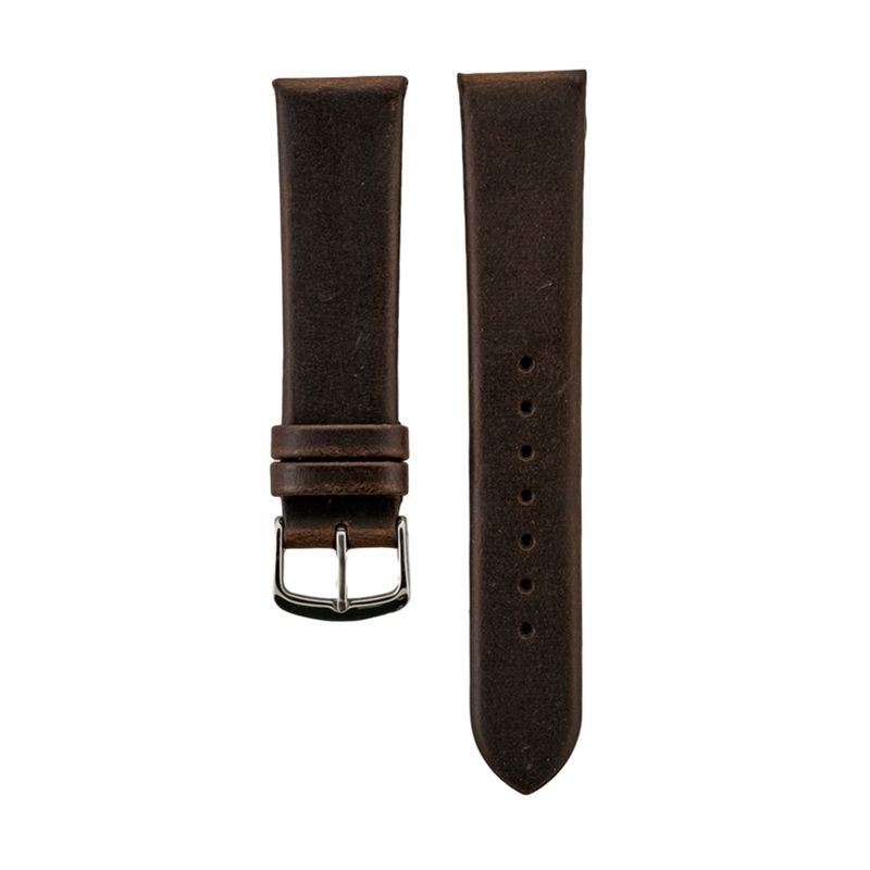 Brown Genuine Oil Tan Leather Flat Padded Strap
