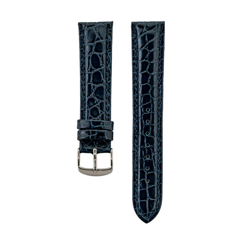 Blue Crocodile Grain Strap