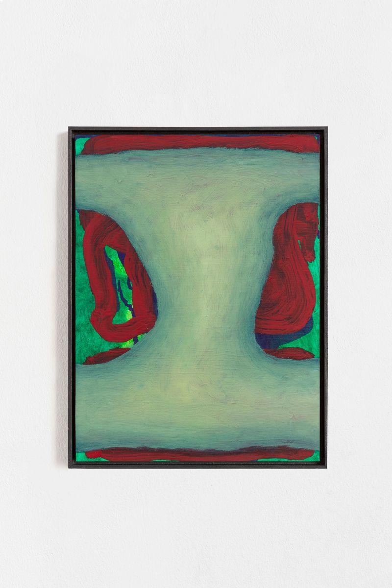 """Veronika Hilger """"Untitled"""", 2021, Oil on paper on MDF in artists frame, 39.6 × 29.6 cm"""