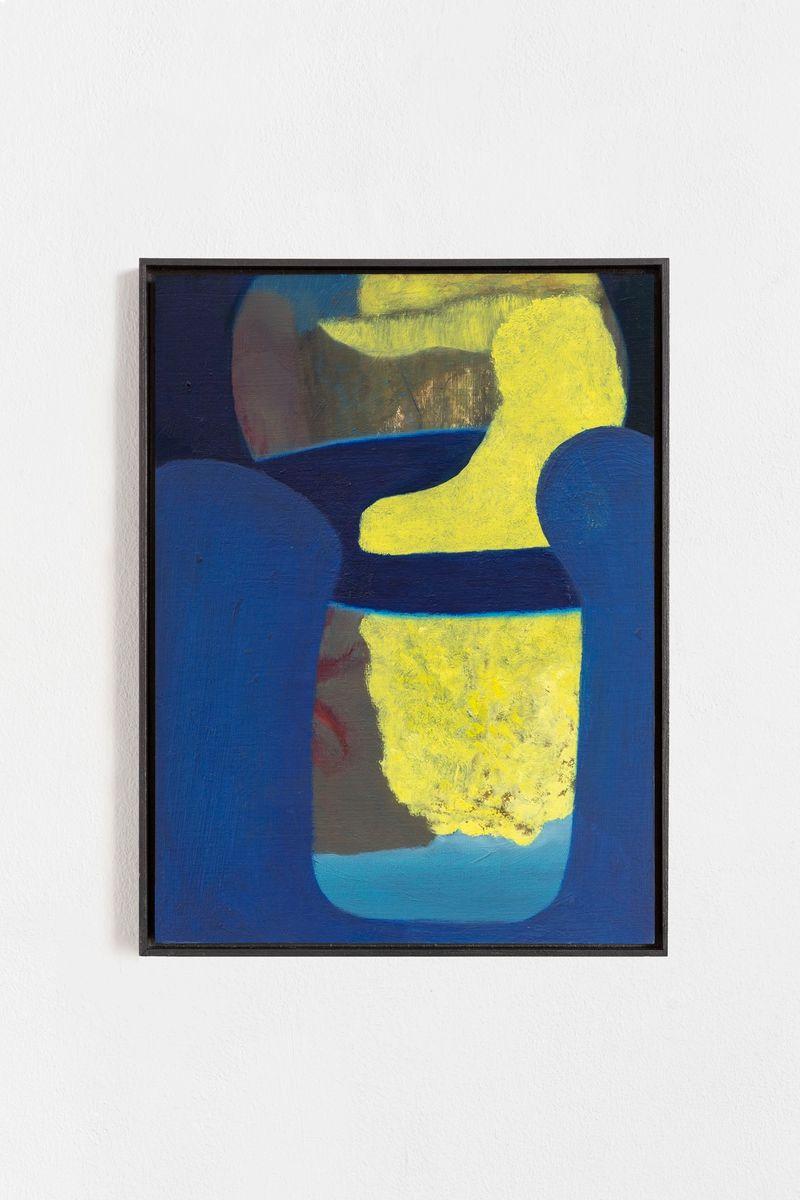 "Veronika Hilger, ""Untitled"", 2021, Oil on paper on MDF in artists frame, 39.6 x 29.6 cm, photo: Sebastian Kissel"
