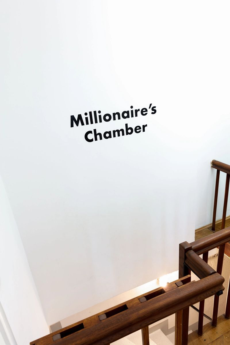 """Exhibition view: """"Millionaire's Chamber""""  A 1-year project by Thomas Geiger, photo: Sebastian Kissel"""