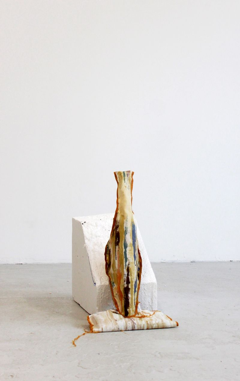 Ana Navas, Work in process, 2021, 64 × 27 × 25 cm, photo: Berke Gold