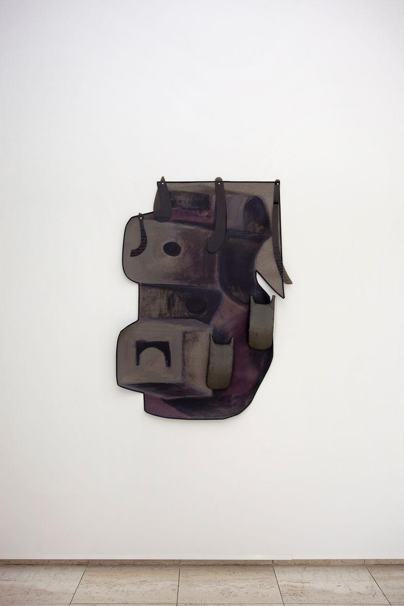Ana Navas, Waist Pad (after Moore),2018, pvc, acrylic, fabric, foam, plastic,140 × 100 cm,photo: Otto Polman