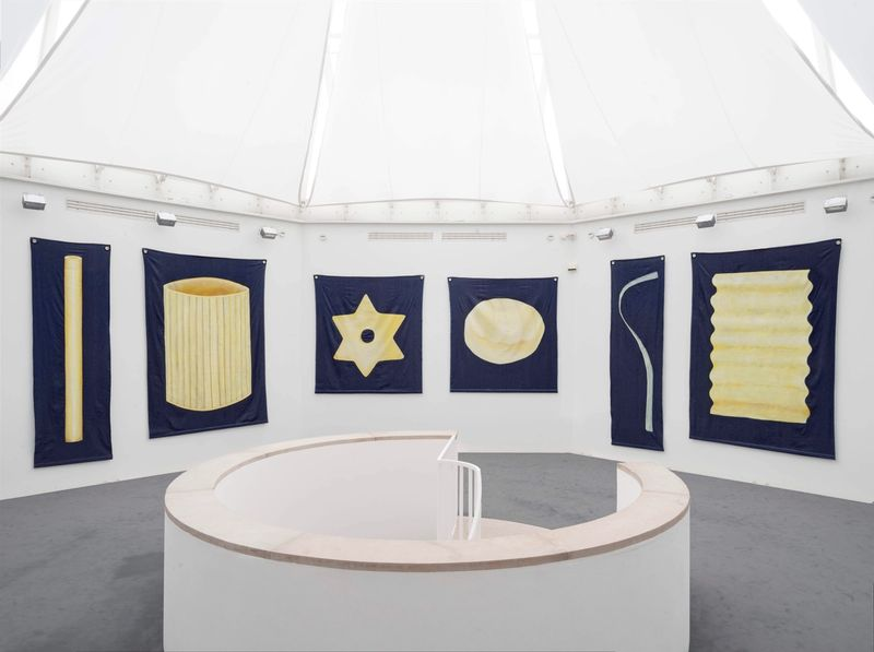 Ana Navas, I had to think of you (Nudeln), installation view,Stadtgalerie Sindelfingen, 2017, photo: HenningKrause,