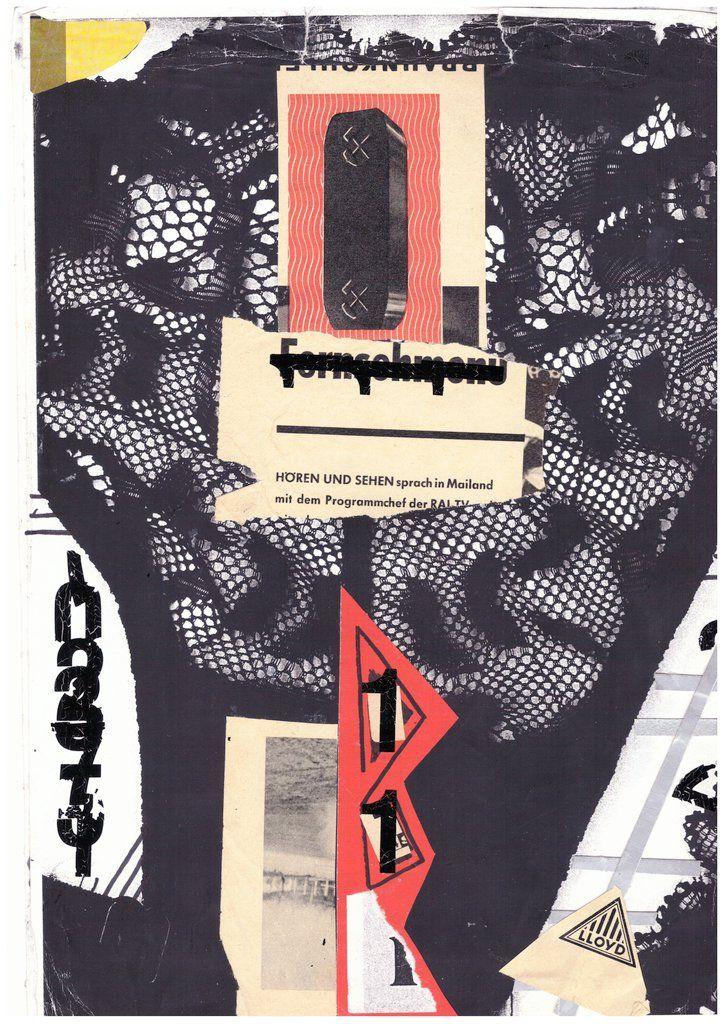 Anna McCarthy, Panties, paper collage, 29.5 x 21 cm