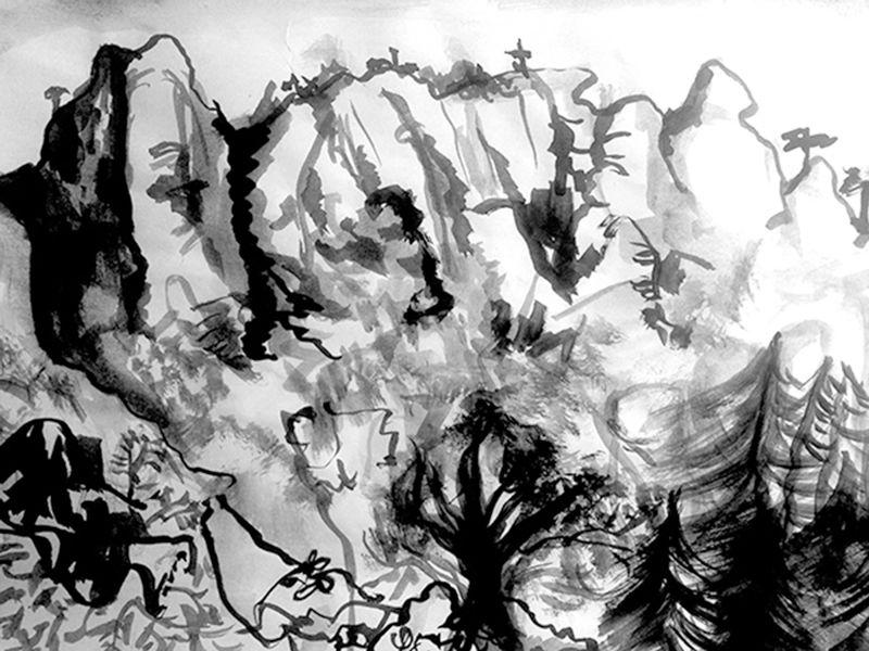 Anna McCarthy, Montserrat (Valley), 2019, risograph, 30 × 40 cm, edition: 10 ,