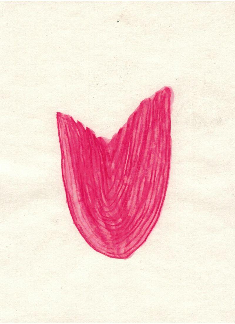 Malte Zenses, Die Zunge vor dem Kaffee, 2021, watercolor pencil on paper, 14,8 × 21 cm