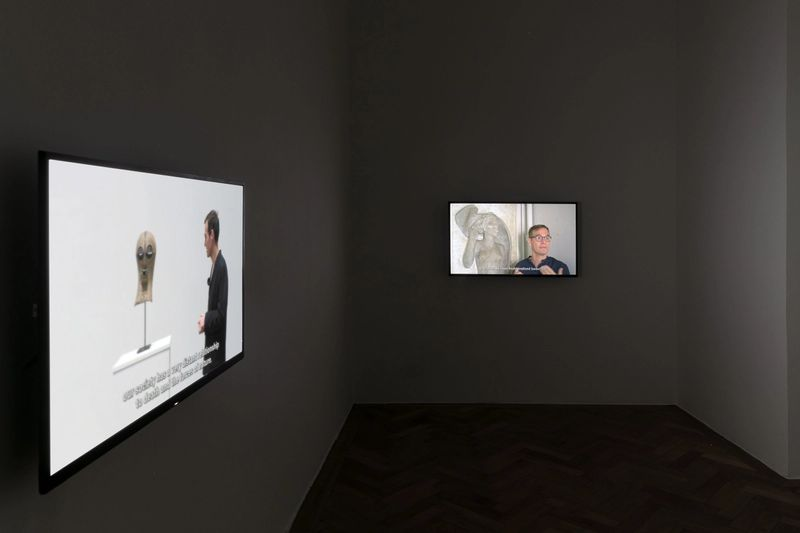 "Exhibition view: Thomas Geiger, ""The Ghost is present"", 2021, photo: Sebastian Kissel"