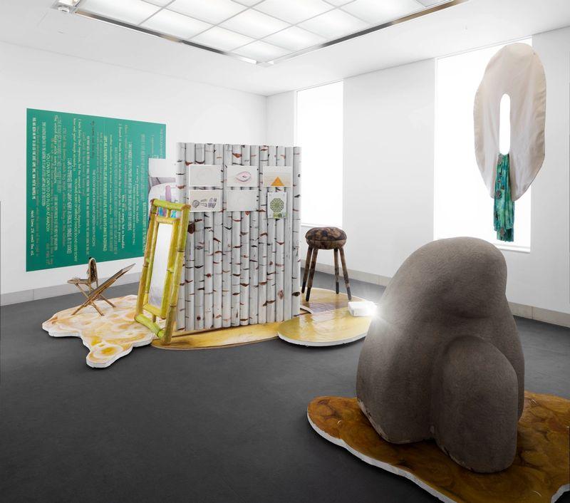 I had to think of you (Nature),installation view, Stadtgalerie Sindelfingen, 2017, photo:HenningKrause ,