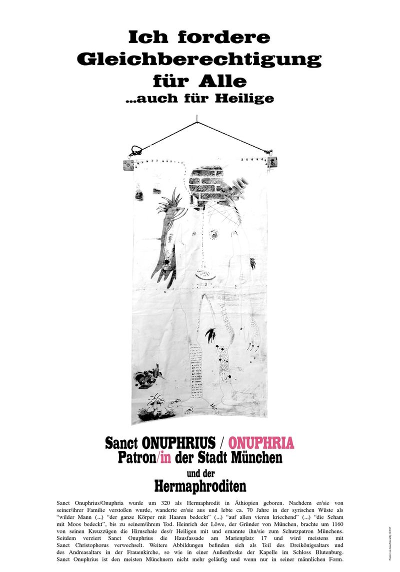 """Poster for the archive of the Forum Homosexualität München within the framework of Philip Guflers' exhibition and publication """"I wanna give you devotion"""" in collaboration with Hamman & Von Mier Verlag"""