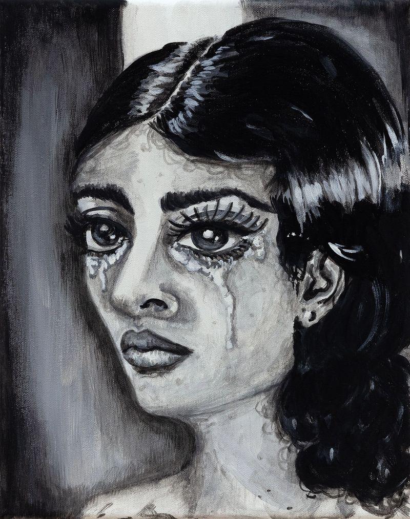 Anna McCarthy, The Crying, 2021, acrylic on canvas, 30 × 24 cm, photo: Sebastian Kissel
