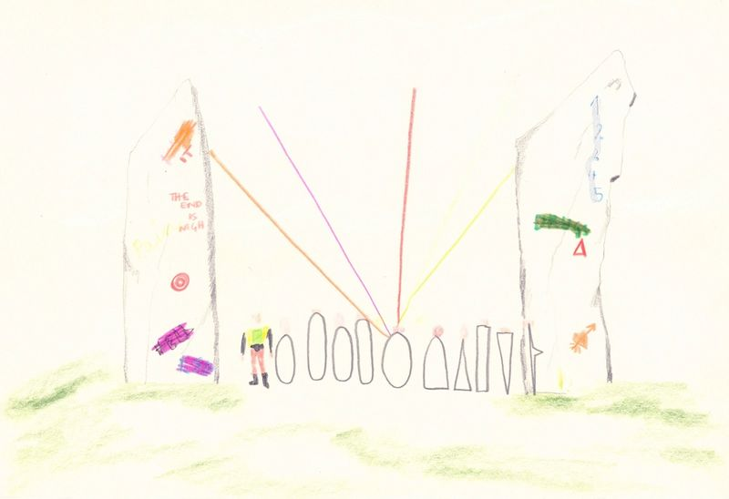 Anna McCarthy, End is Nigh, 2006, crayon and pencil on paper, 20 × 29.7 cm,
