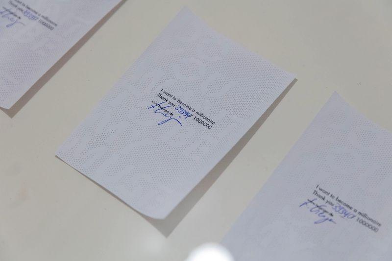 """Millionaire's Chamber"" A 1-year project by Thomas Geiger, Part III, Artist's Sheet by Hendrik-Jan Hunneman"