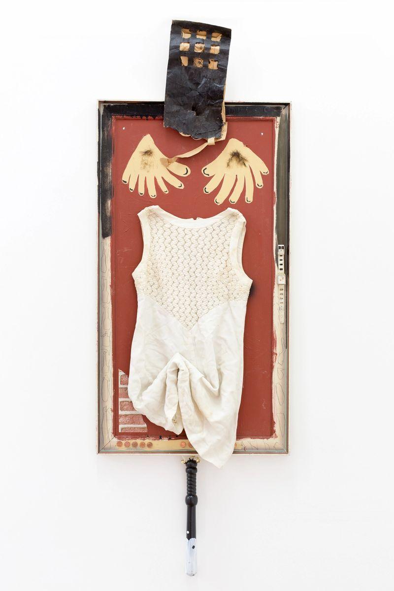 Anna McCarthy, Ying-Yang Penis, 2016, collage, 153 × 56 cm,