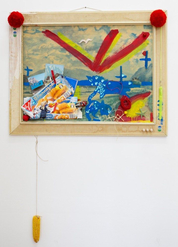 Anna McCarthy, Realitätsflüchtlinge, 2016, collage, 129 × 89 cm