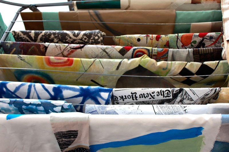 Ana Navas, Work in process (fabrics), 2021, photo: Berke Gold ,