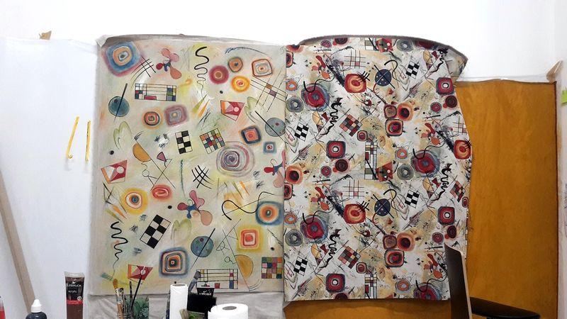 Ana Navas, Work in process (fabrics), 2021, photo: Berke Gold