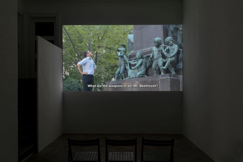 """Exhibition view: Thomas Geiger, """"The Ghost is present"""", 2021, photo: Sebastian Kissel"""