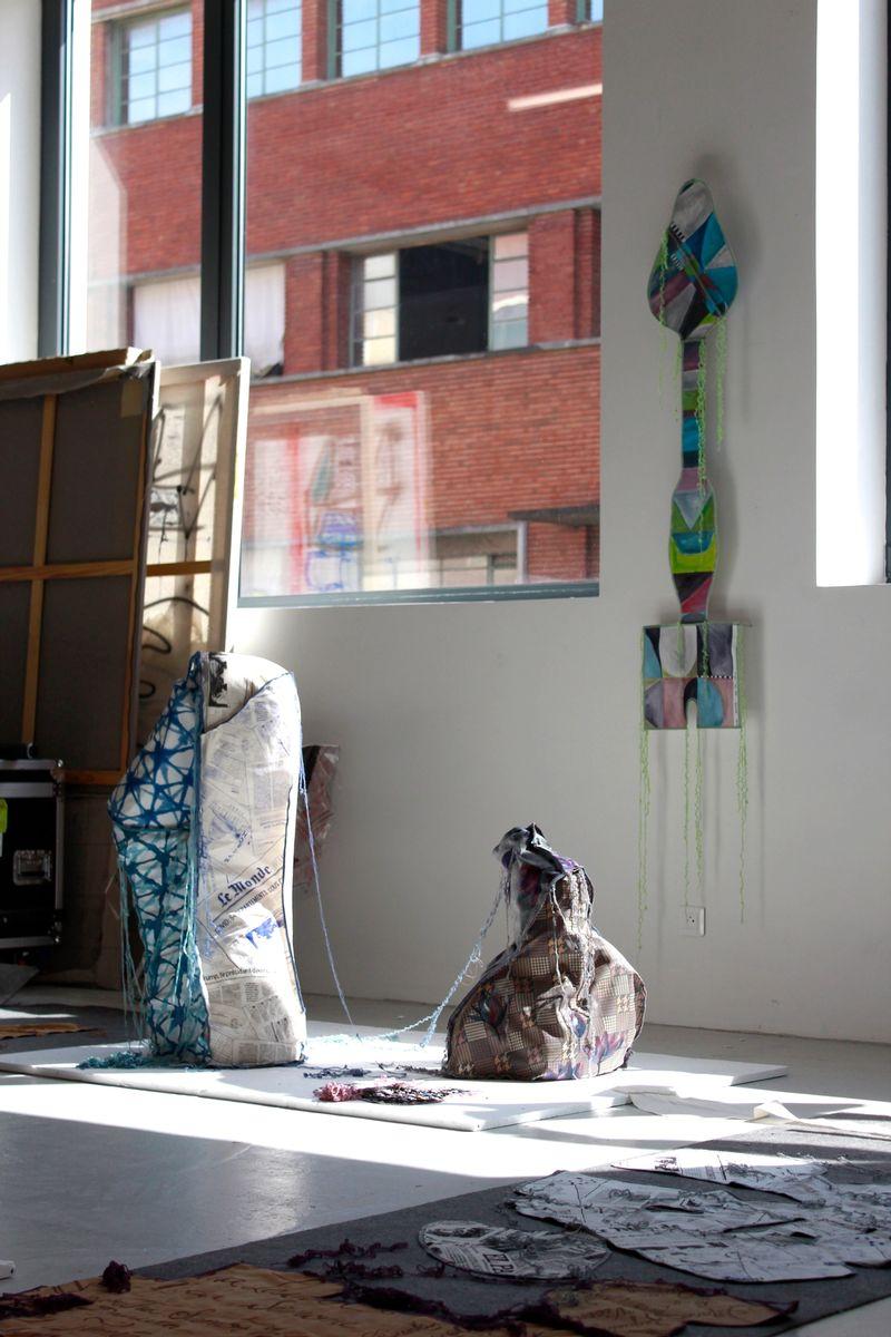 Studio view at Fondation Fiminco, 2021, photo: Berke Gold ,