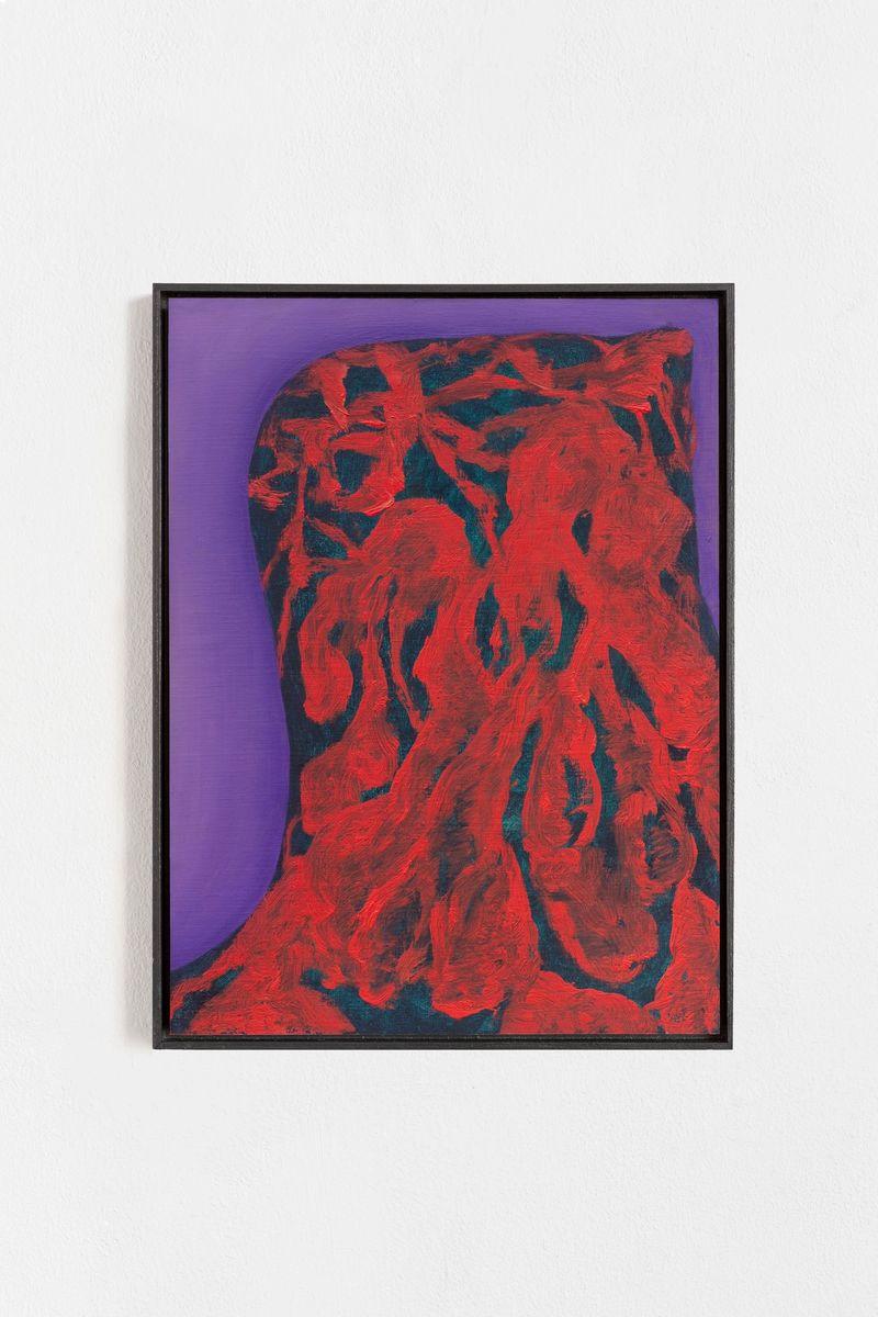 "Veronika Hilger, ""Untitled"", 2021, Oil on paper on MDF in artists frame, 39.6 x 29.6 cm photo: Sebastian Kissel"