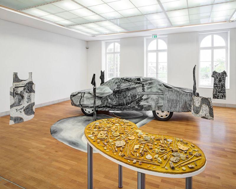 Ana Navas, I had to think of you (Introduction), installation view,Stadtgalerie Sindelfingen, 2017, photo: HenningKrause,