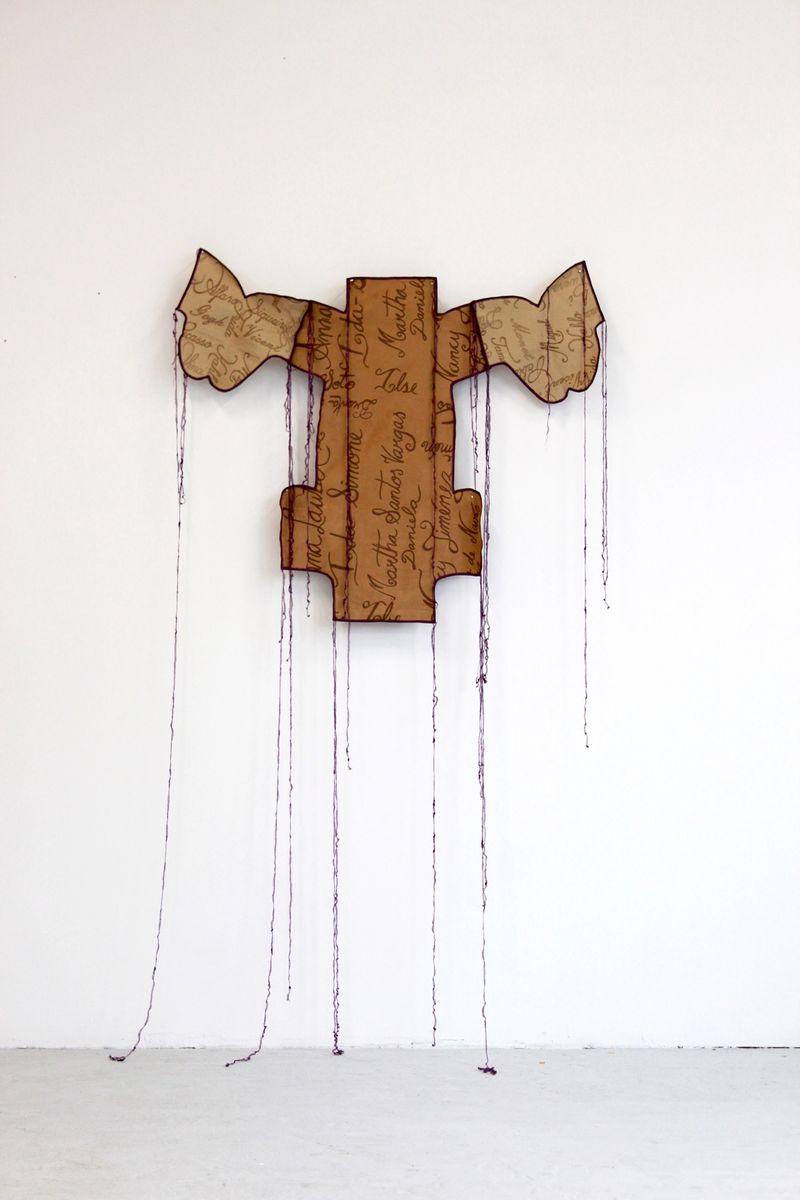Ana Navas, Work in process (Chicken), 2021 fabric,serigraphy, photo: Berke Gold