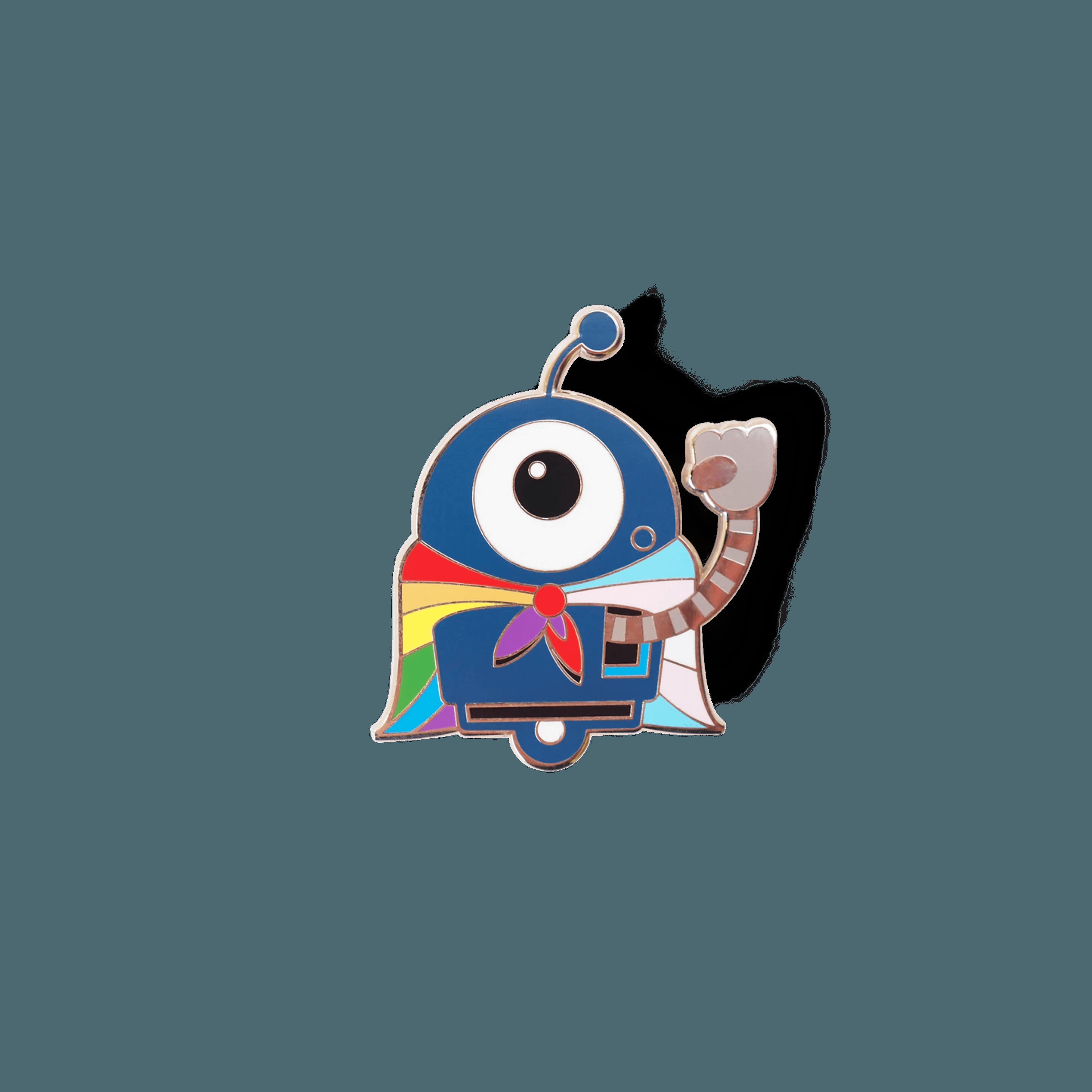 Pride Bot 1.75 inch enamel pin