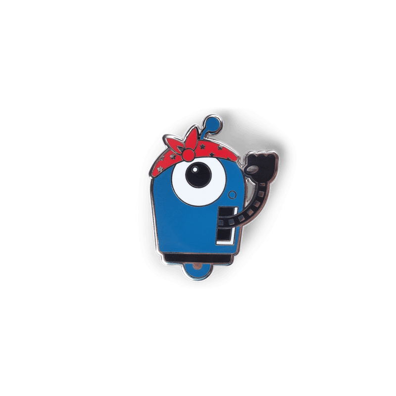 Rosie Enamel Pin 1.75 inches