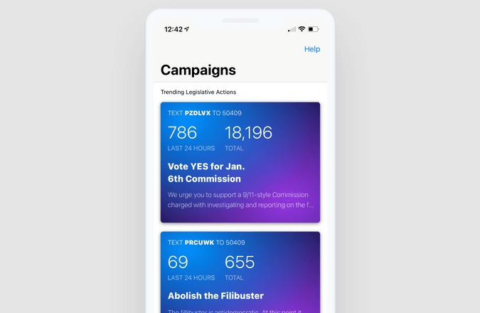 Resistbot App on iOS