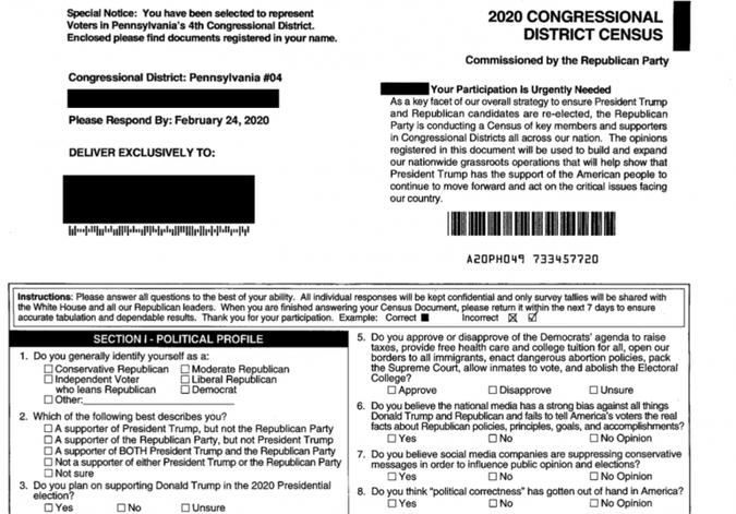 A fake census
