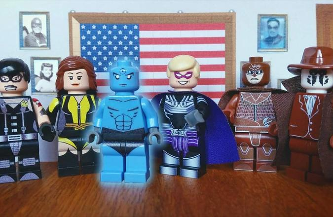 Watchmen scene recreated with LEGO