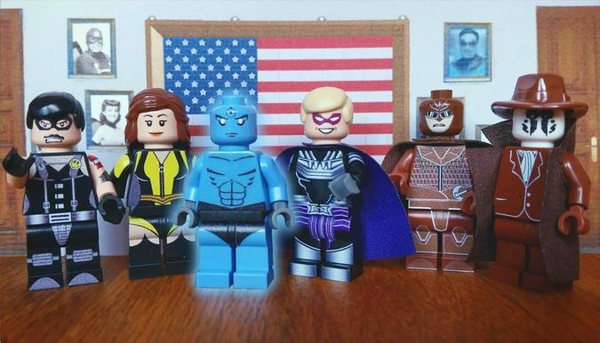 Watchmen scene recreated with LEGO