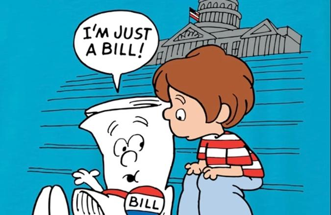 School House Rock Bill and little boy