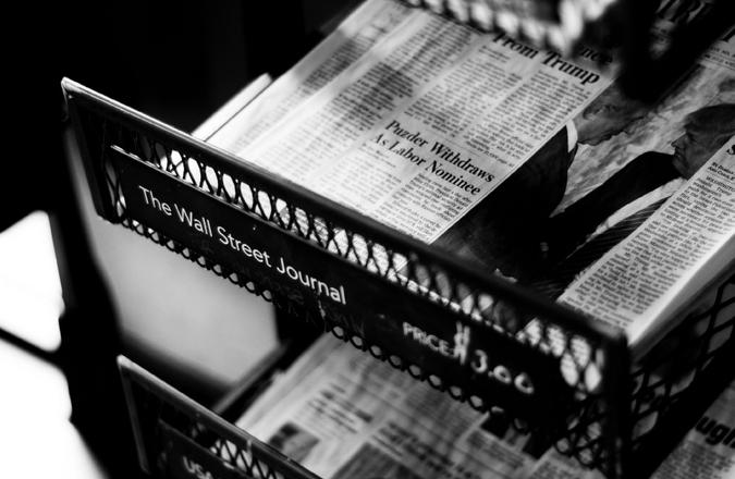 Newspapers in a newsstand