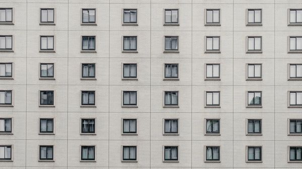 High-rise building repeating windows