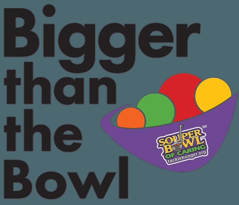 Bigger than the bowl logo