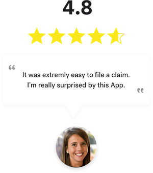 A satisfied customer saying that filing a claim is really easy