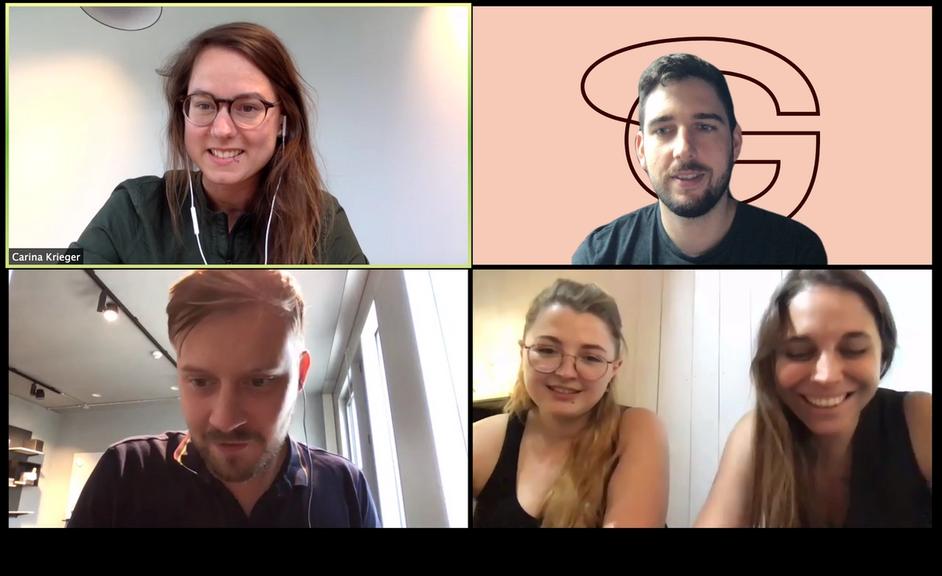 Interview via zoom: Carina, Nicole, Ana, Jacob, Anthony
