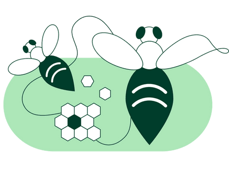 icon of a bee