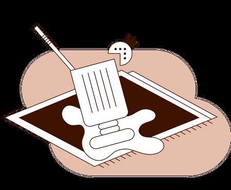 icon of a strawberry milkshake