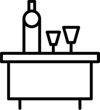 icon of a dinner table