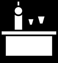 icon eines Tisches beim Abendessen