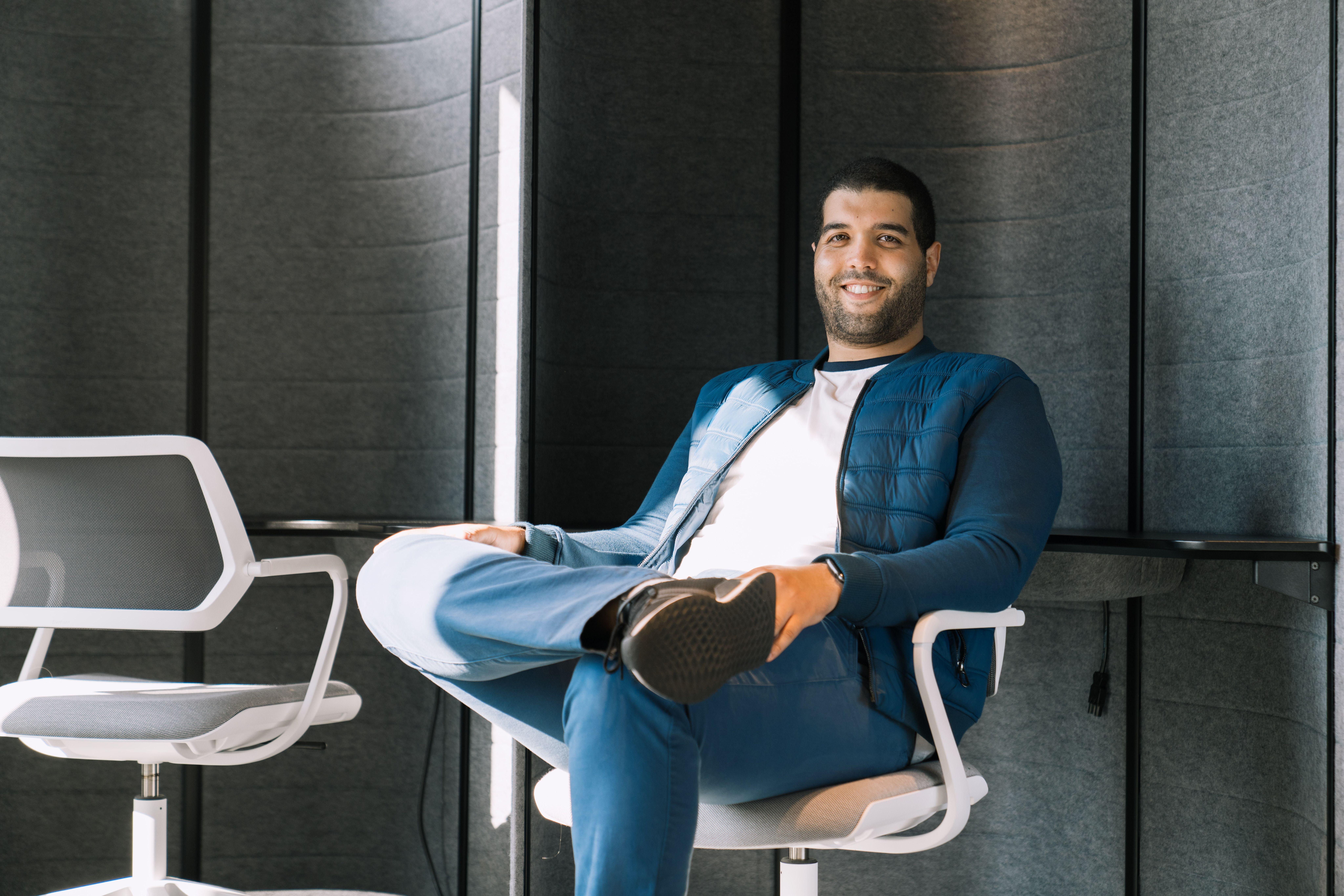 Haithem in the office