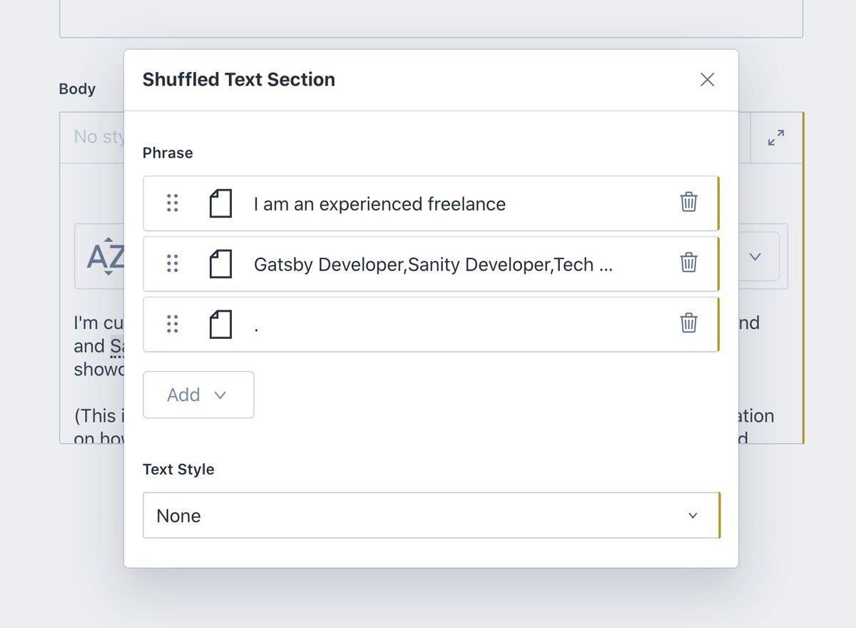 Shuffle Text Effect - Gatsby React Sanity