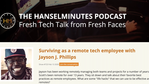 Screenshot of episode 723 podcast description on hanselminutes.com